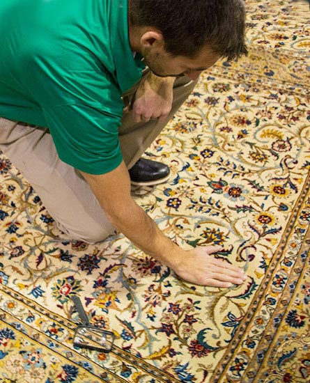 Area Rug Cleaning with Tech